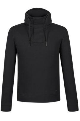 'Seeger' | Cotton Blend Hooded Sweatshirt, Black