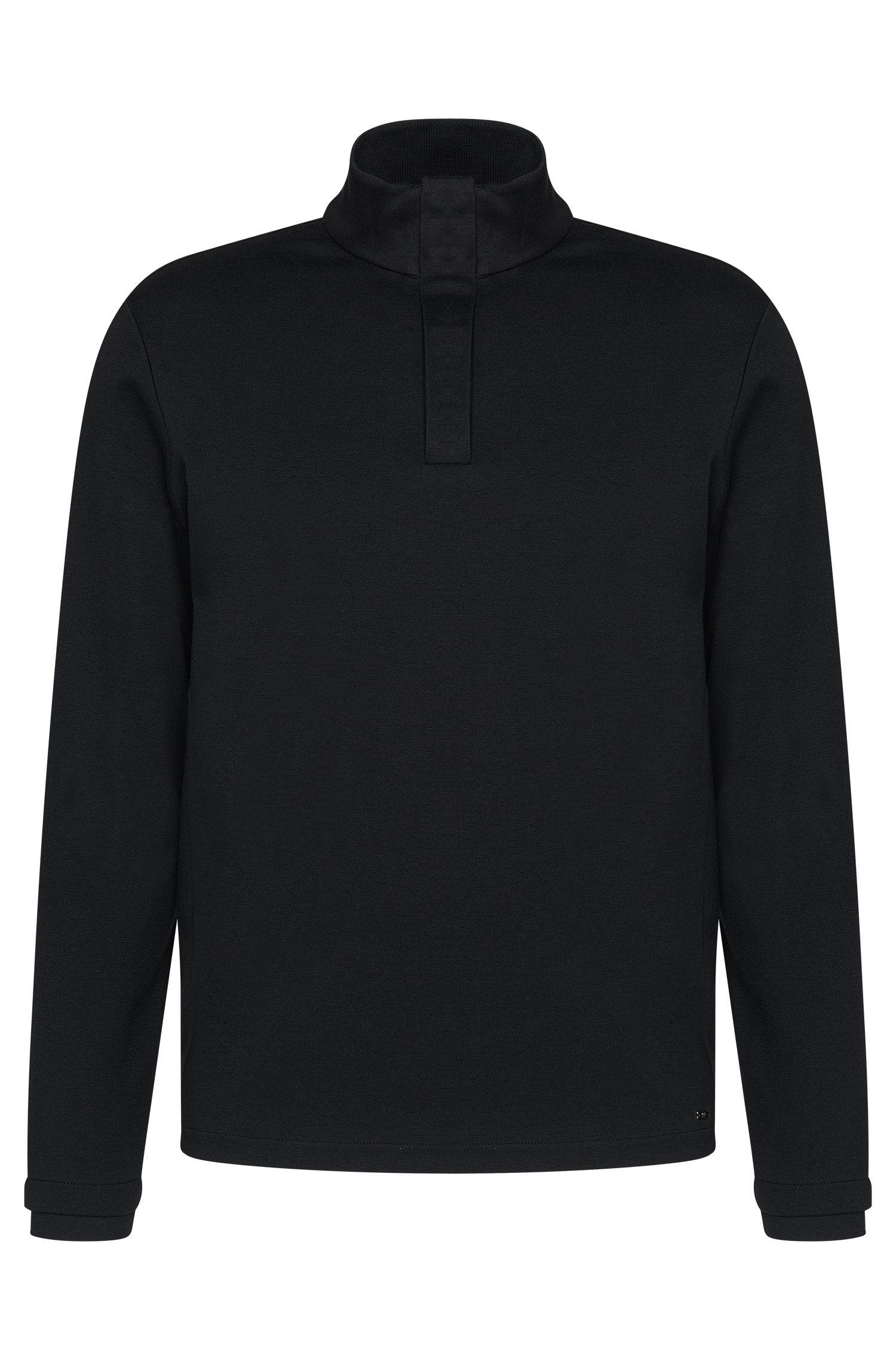 'Sidney'   Mercerized Cotton Troyer Long Sleeve T-Shirt