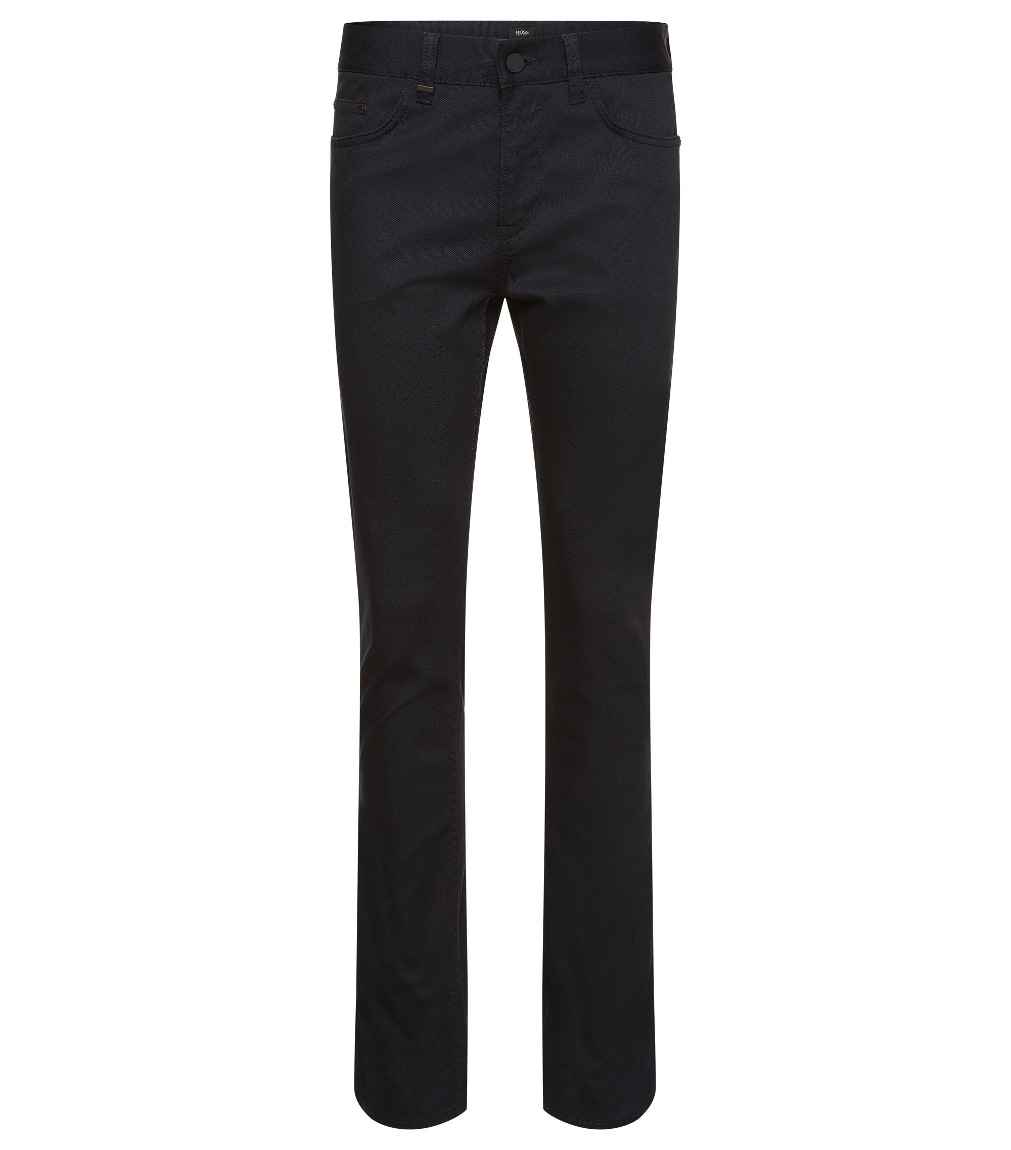 11 oz Stretch Cotton Trouser, Slim Fit | Delaware, Dark Blue