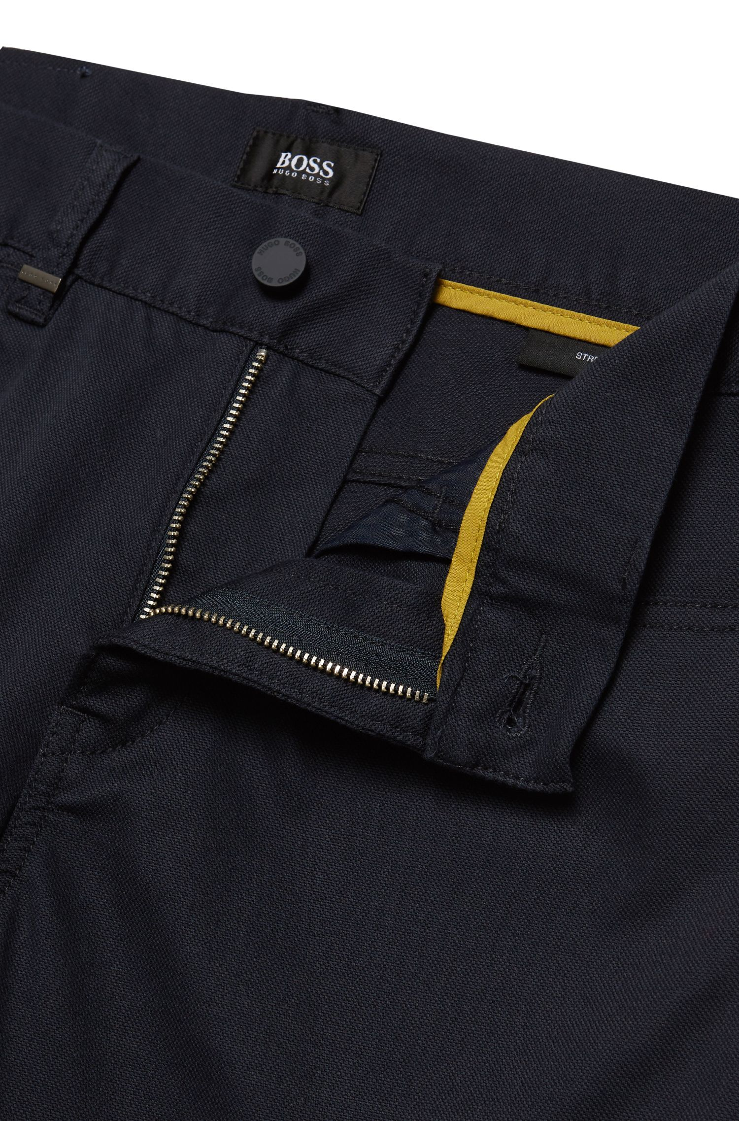 11 oz Stretch Cotton Trouser, Slim Fit | Delaware, Dark Blue