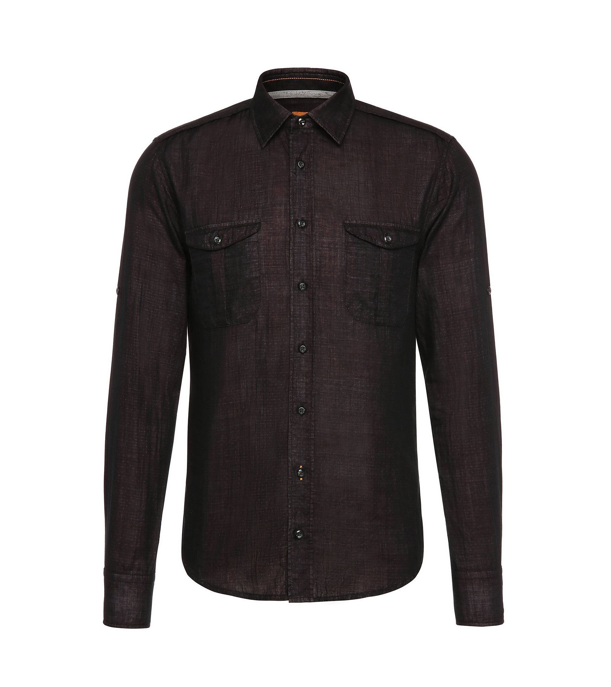 Cotton Sport Shirt, Slim Fit | CadettoE, Red