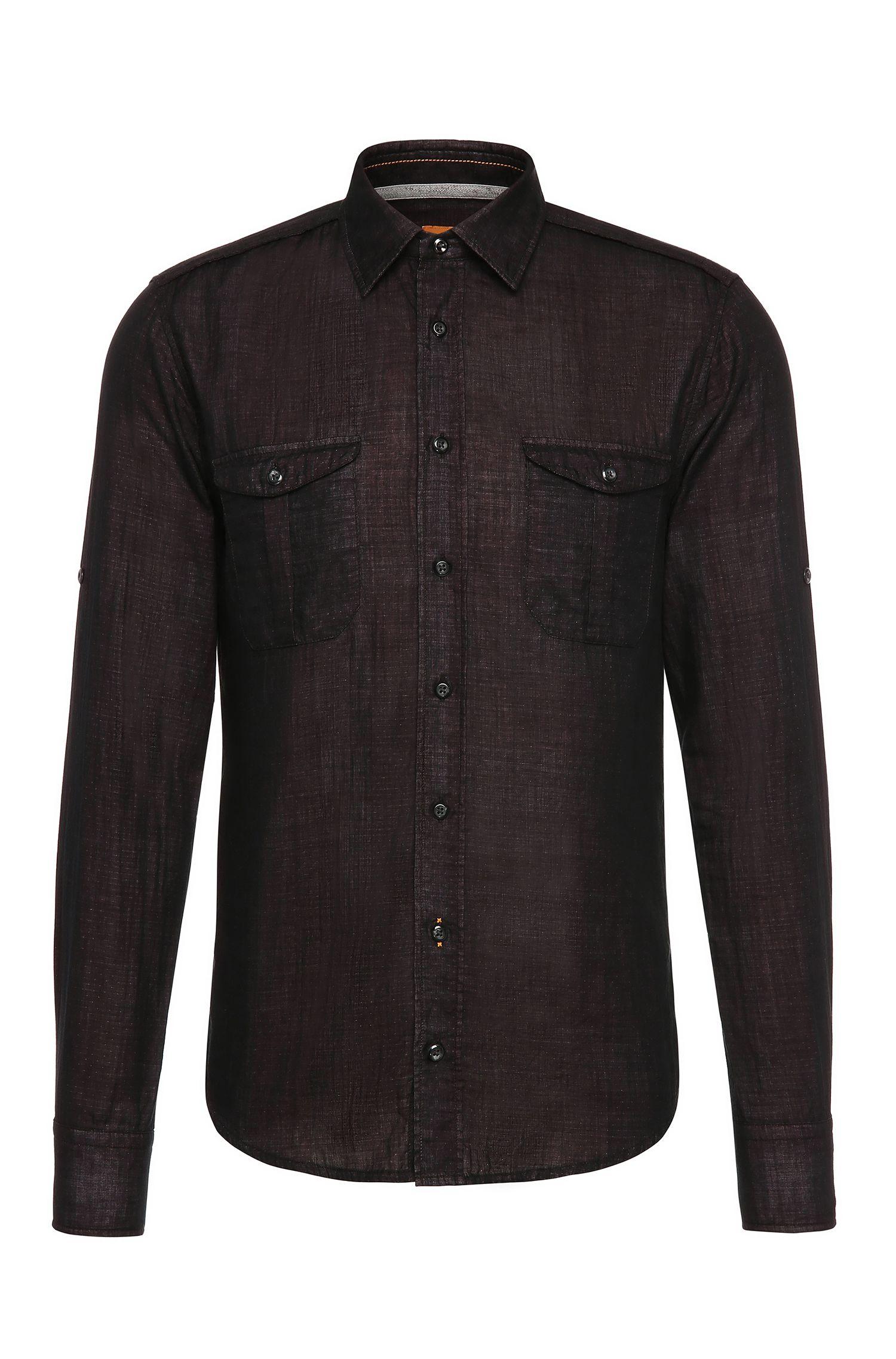 Cotton Button Down Shirt, Slim Fit | CadettoE
