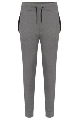 'Drontier' | Cotton Drawstring Sweatpants, Open Grey