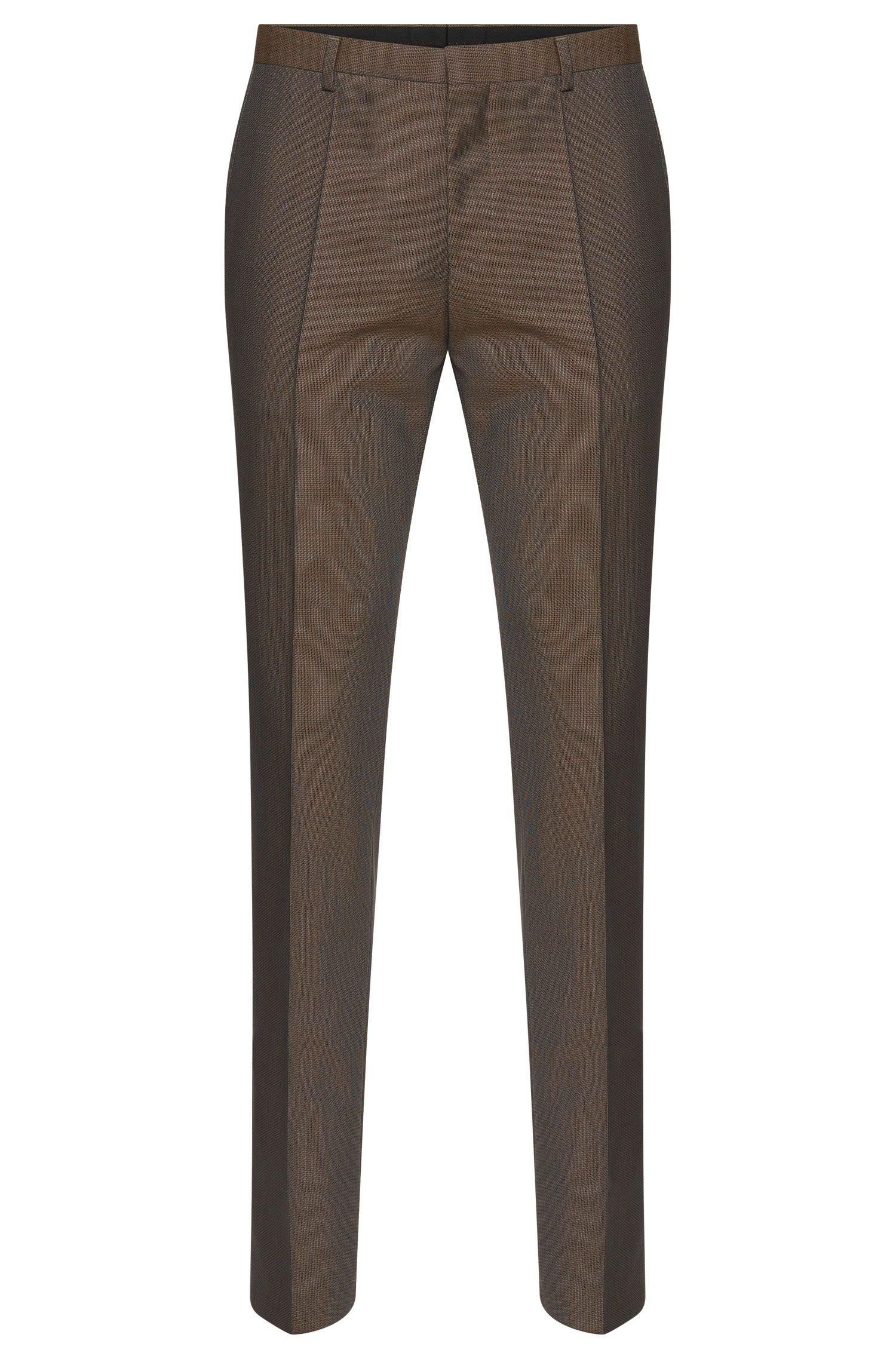 'Hets' | Slim Fit, Virgin Wool Patterned Dress Pants