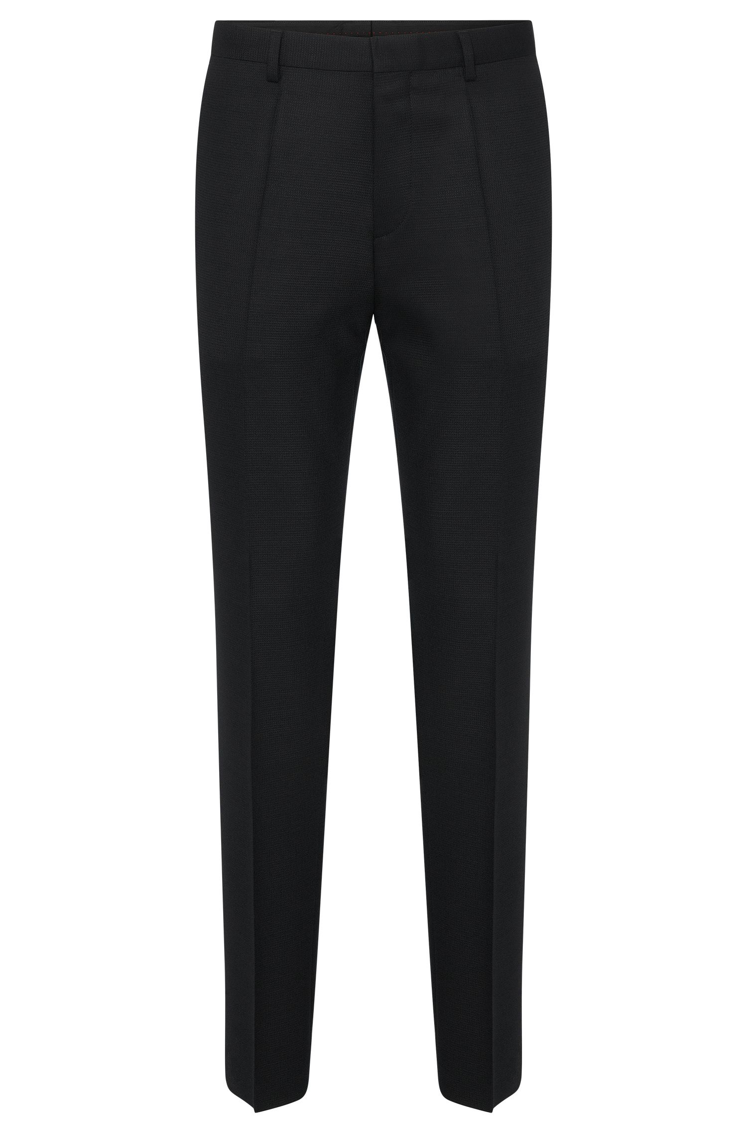 'Hets' | Slim Fit, Stretch Virgin Wool Blend Patterned Dress Pants