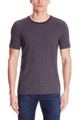 Striped Crew T-Shirt | Tessler, Dark Blue