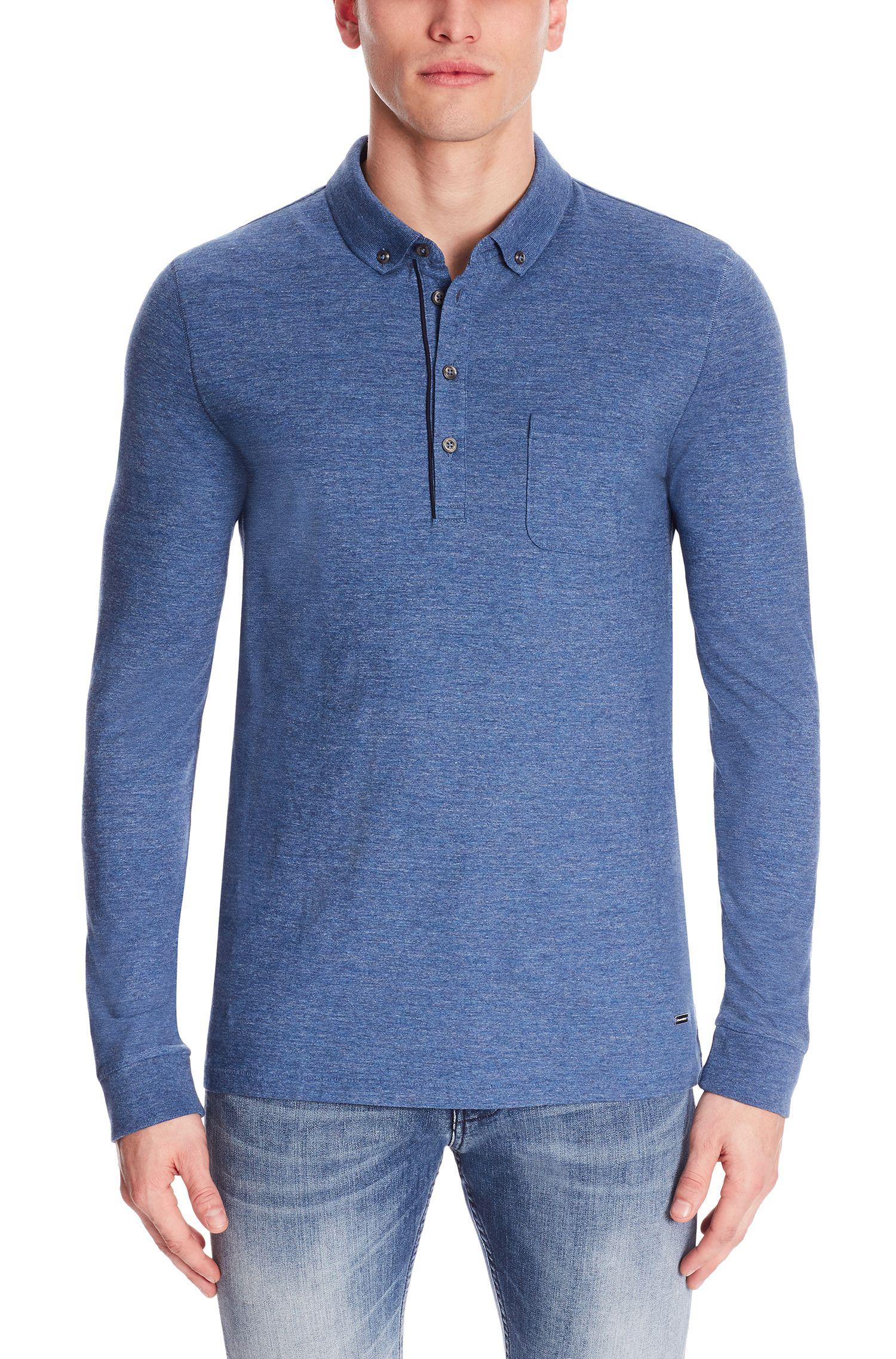 'Patcherman' | Regular Fit, Cotton Polo Shirt