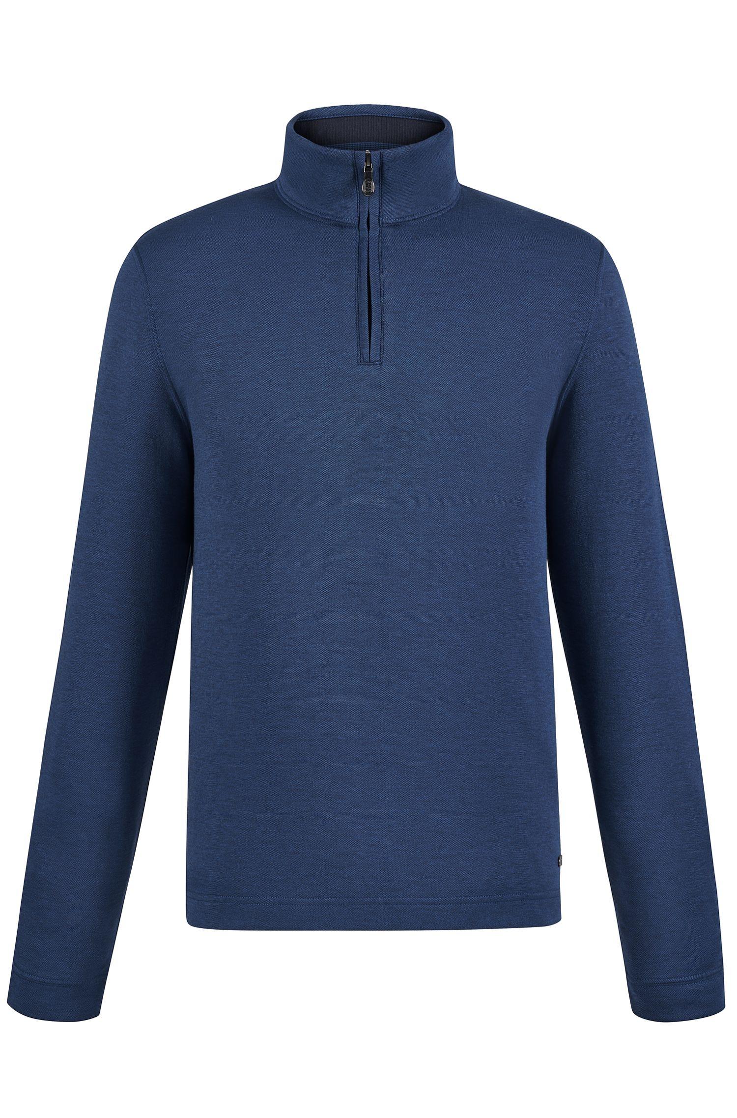 'C-Piceno' | Cotton Blend Troyer Shirt
