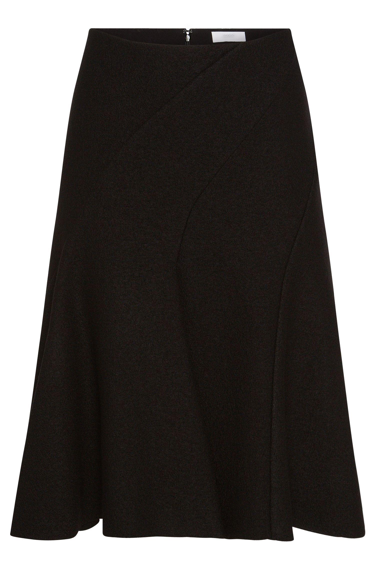 'FS_Vipera' | Bonded Wool A-Line Skirt