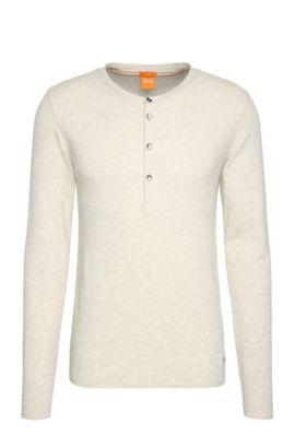 Cotton Waffle Henley Shirt | Topsider, Natural