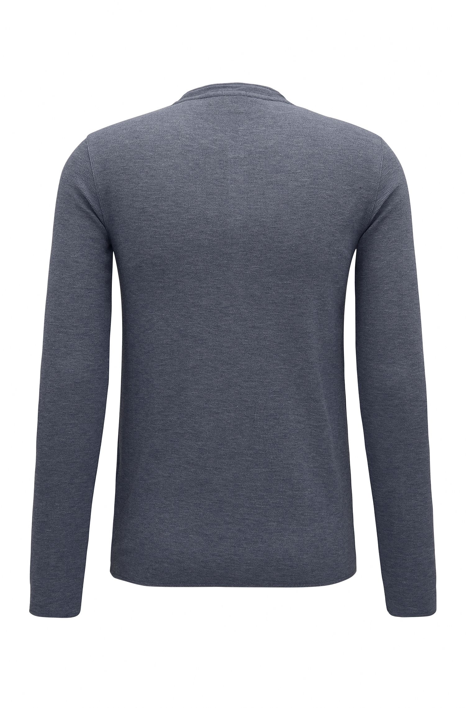 Cotton Waffle Henley Shirt   Topsider
