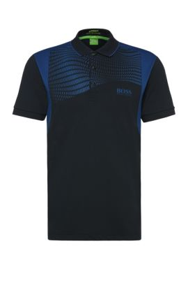 'Paddy Pro' | Regular Fit, Moisture Manager Stretch Polo Shirt, Dark Blue