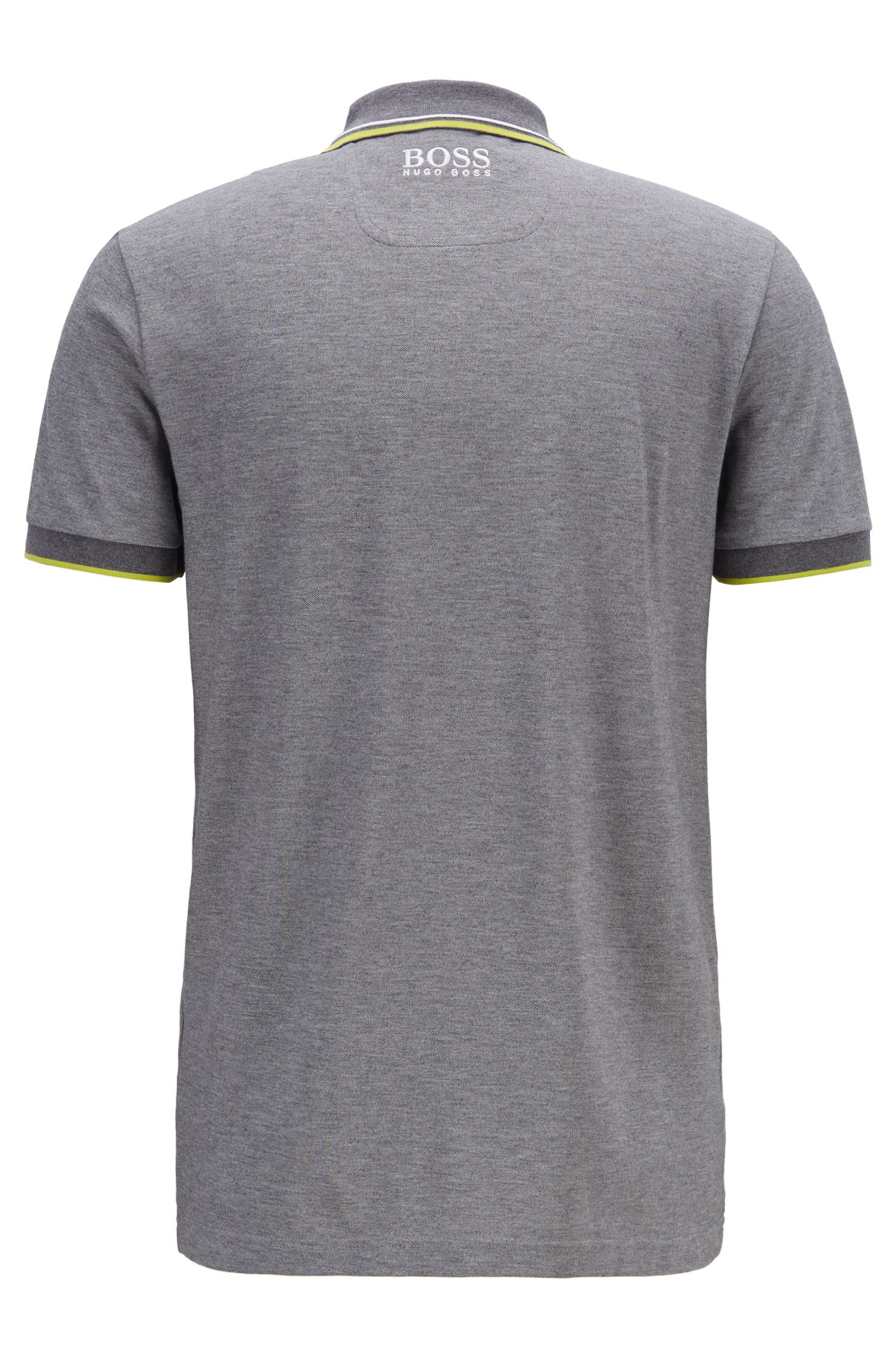 Regular fit piqué polo shirt with quick-dry technology, Grey
