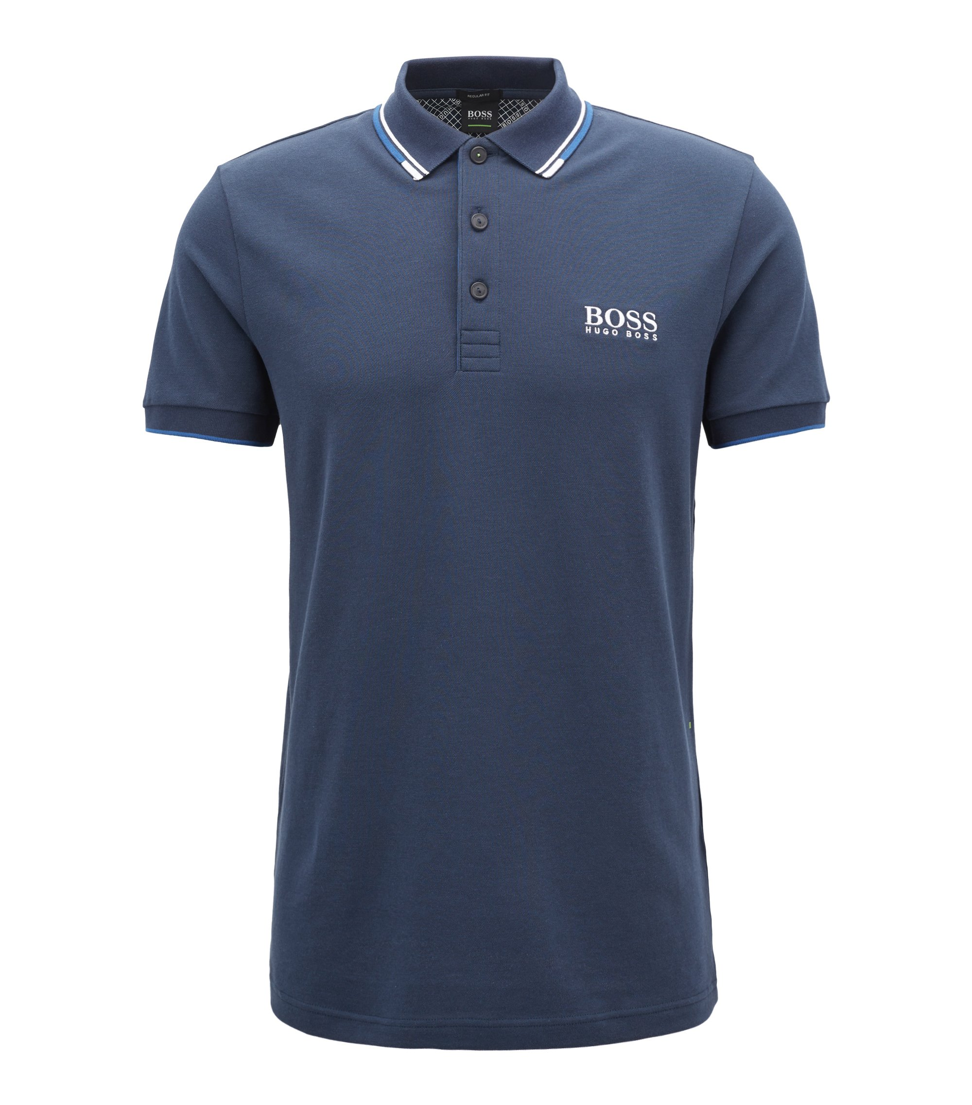 Moisture Manager Stretch Polo Shirt, Regular Fit | Paddy Pro, Dark Blue