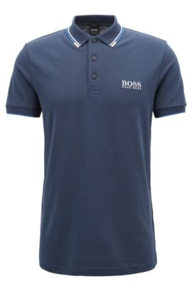 Moisture Manager Stretch Cotton  Polo Shirt, Regular Fit   Paddy Pro, Dark Blue
