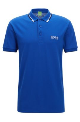 Moisture Manager Stretch Cotton  Polo Shirt, Regular Fit | Paddy Pro, Blue