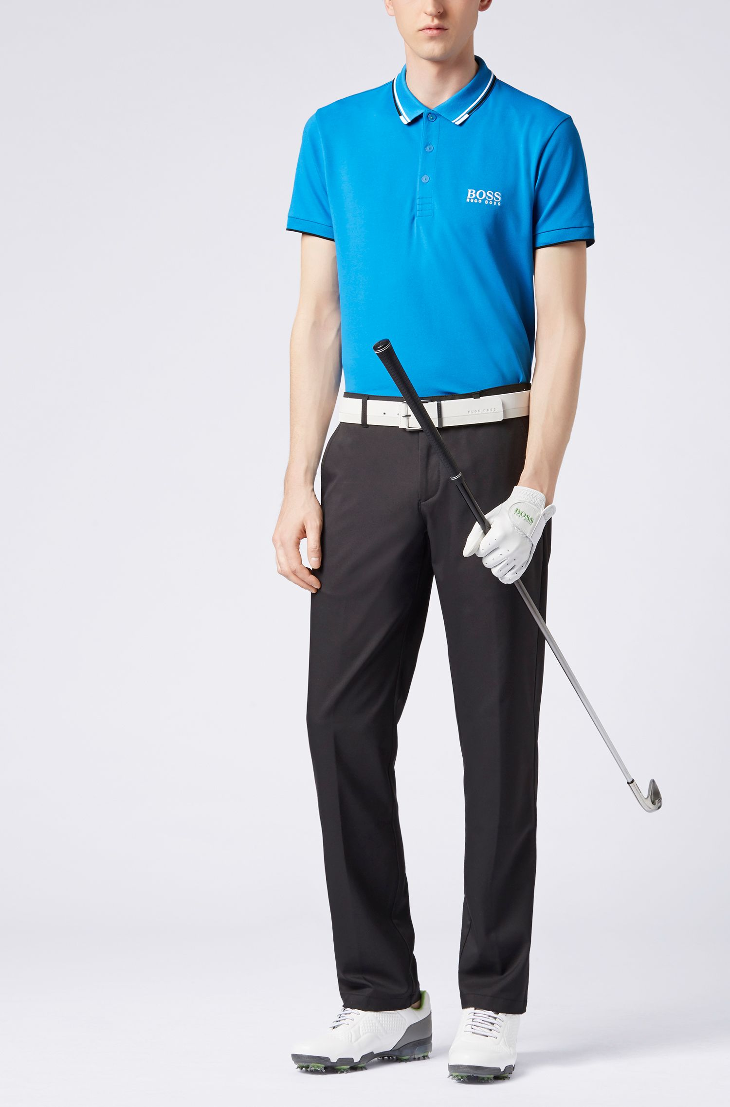 Regular fit piqué polo shirt with quick-dry technology