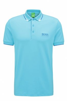Moisture Manager Stretch Polo Shirt, Regular Fit | Paddy Pro, Open Blue