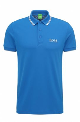 'Paddy Pro' | Regular Fit, Moisture Manager Stretch Cotton Blend Polo Shirt, Open Blue