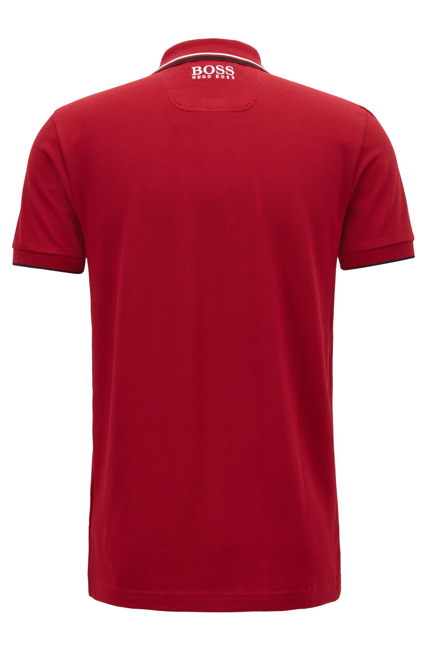 Regular fit piqué polo shirt with quick-dry technology, Dark Red