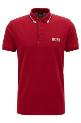 Moisture Manager Stretch Cotton  Polo Shirt, Regular Fit | Paddy Pro, Dark Red