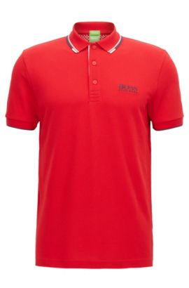 Moisture Manager Stretch Cotton  Polo Shirt, Regular Fit | Paddy Pro, Red