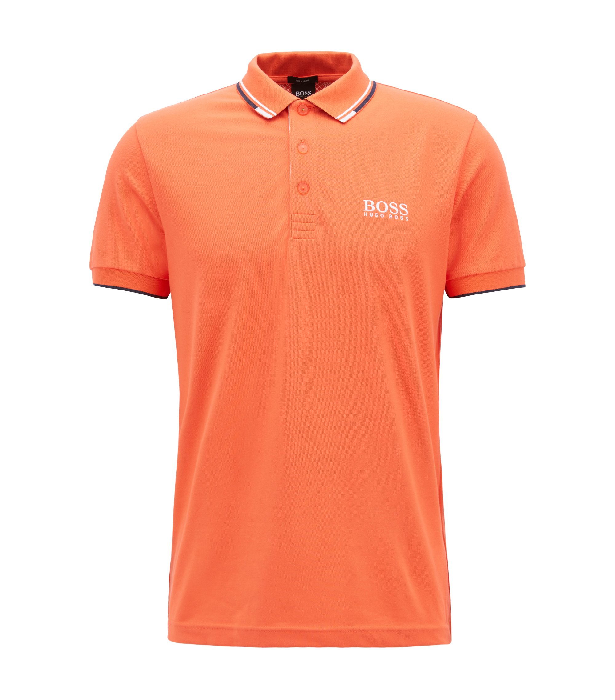Regular fit piqué polo shirt with quick-dry technology, Open Red