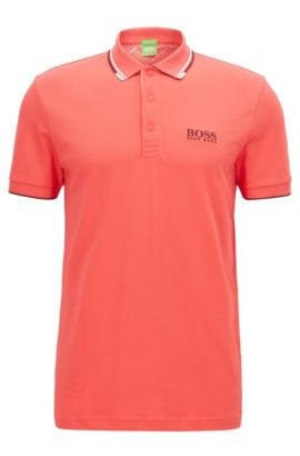 Moisture Manager Stretch Cotton  Polo Shirt, Regular Fit | Paddy Pro, Dark pink