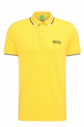 'Paddy Pro' | Regular Fit, Moisture Manager Stretch Cotton Blend Polo Shirt, Yellow