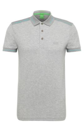 'Paule' | Slim Fit, Moisture Manager Stretch Cotton Blend , Open Grey