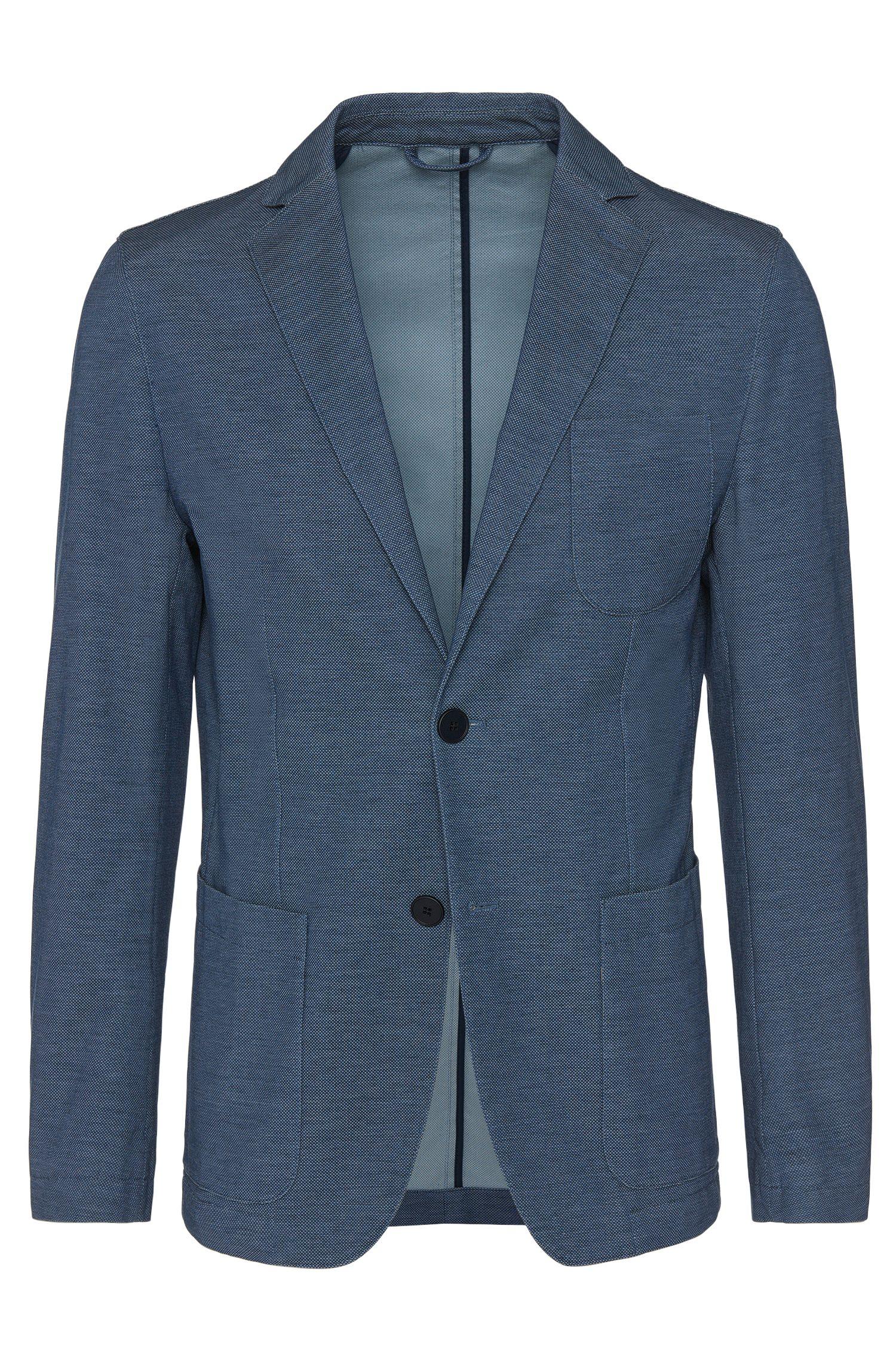 'Narvik W' | Slim Fit, Italian Stretch Cotton Sport Coat