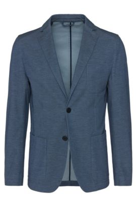 'Narvik W' | Slim Fit, Italian Stretch Cotton Sport Coat, Turquoise