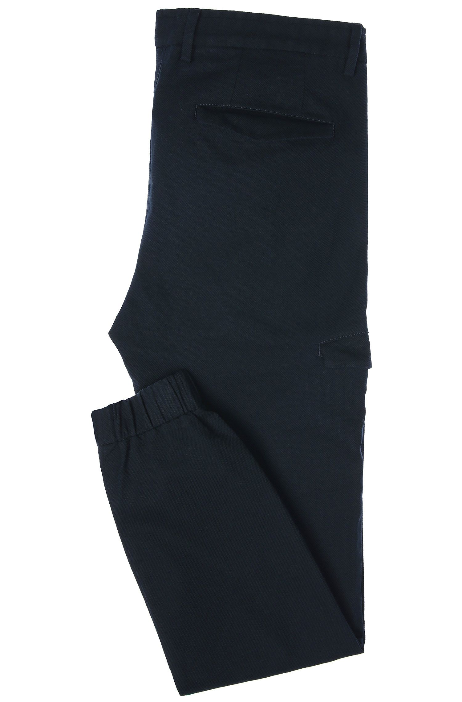 Cotton Cargo Pant, Slim Fit | Loomes W, Dark Blue