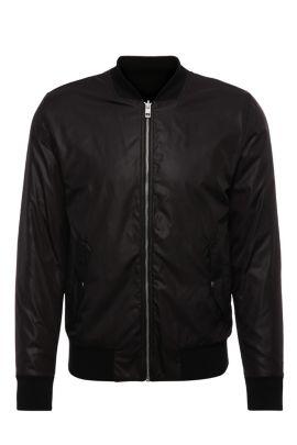 'Zstreets' | Nylon Bomber Jacket, Black