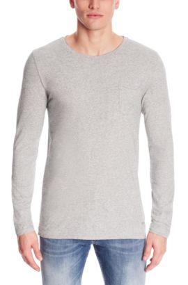 Cotton Melange T-Shirt | Terrence, Light Grey
