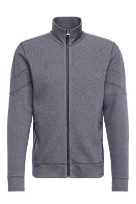 'Zycle' | Cotton Blend Indigo Zip Jacket, Dark Blue