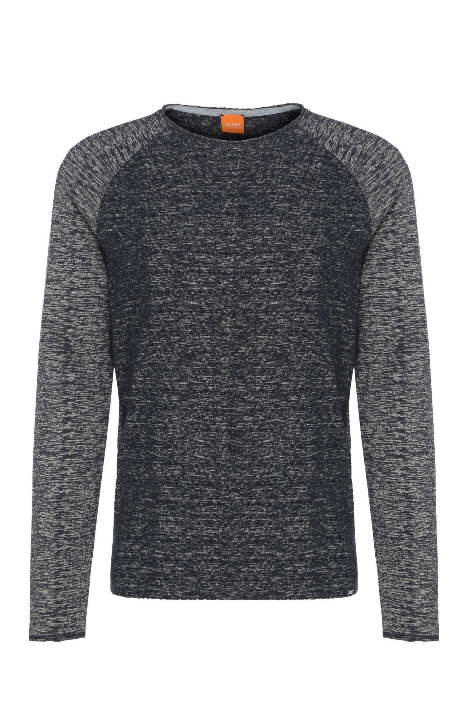'Welles' | Cotton Blend Melange Sweatshirt