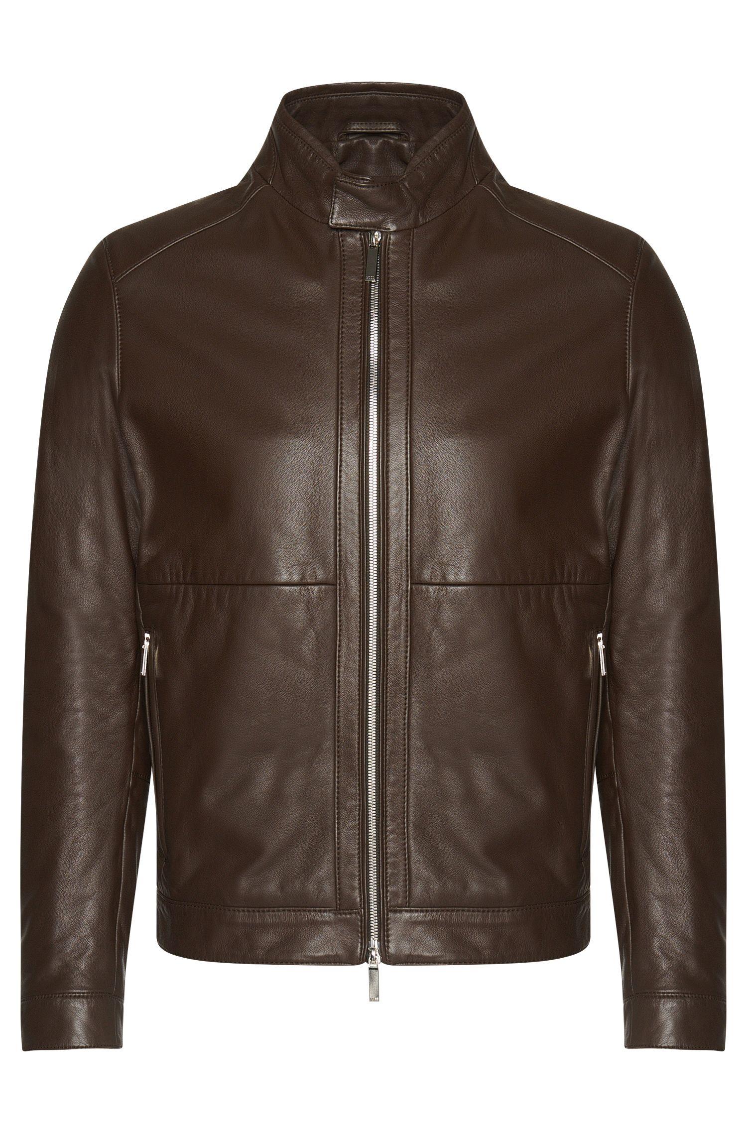 'Nortilo'   Lambskin Biker Jacket