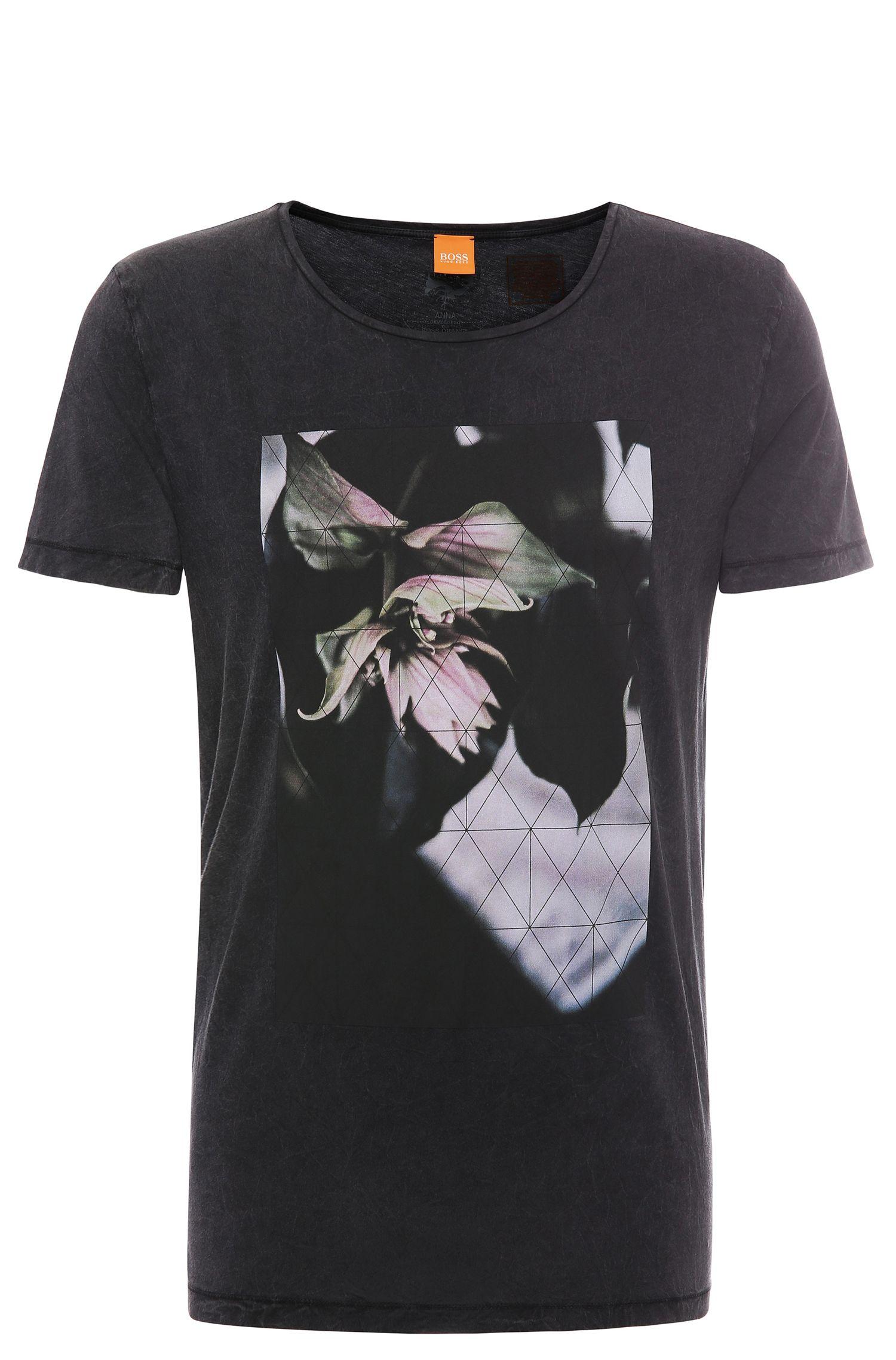 'Torvind' | Cotton Lily Print T-Shirt