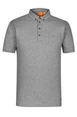 'Playit'   Regular Fit, Jersey Polo Shirt, Light Grey