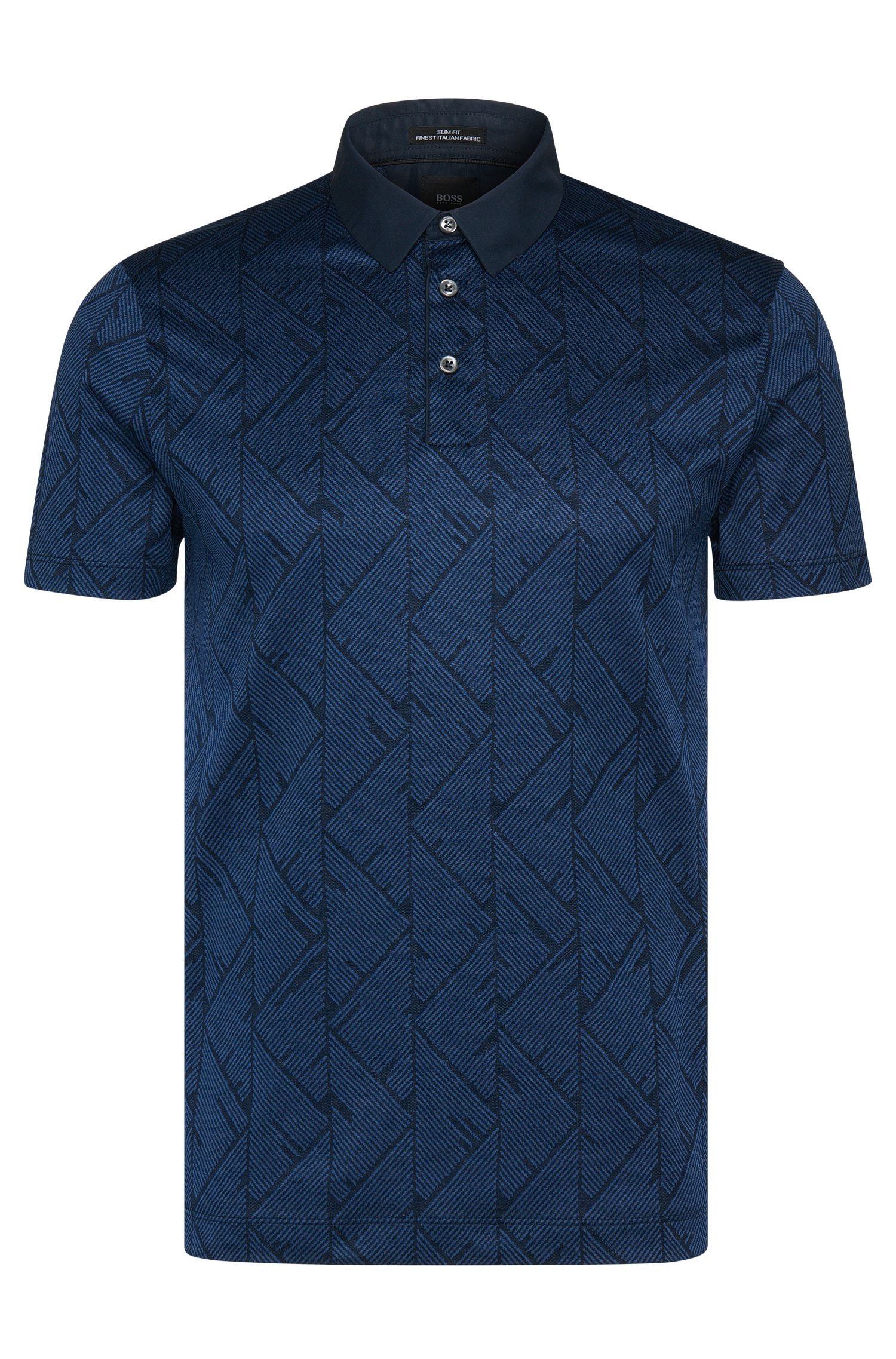 'T-Pryde' | Slim Fit, Italian Cotton Jacquard Polo Shirt