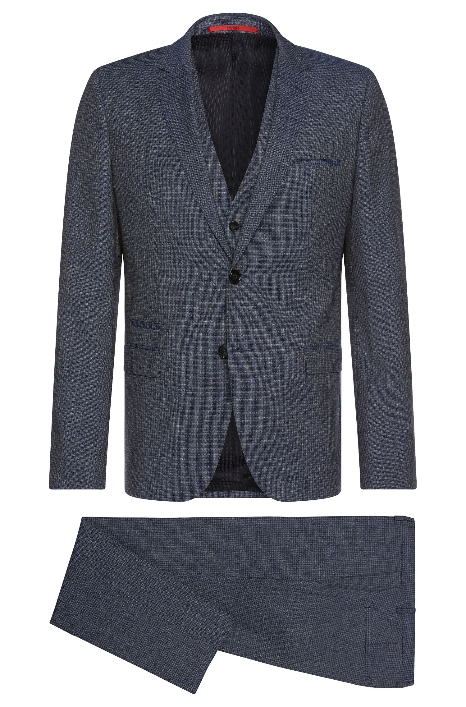 Italian Super 100 Virgin Wool 3-Piece Suit, Slim Fit | Arney/Wilord/Hyls