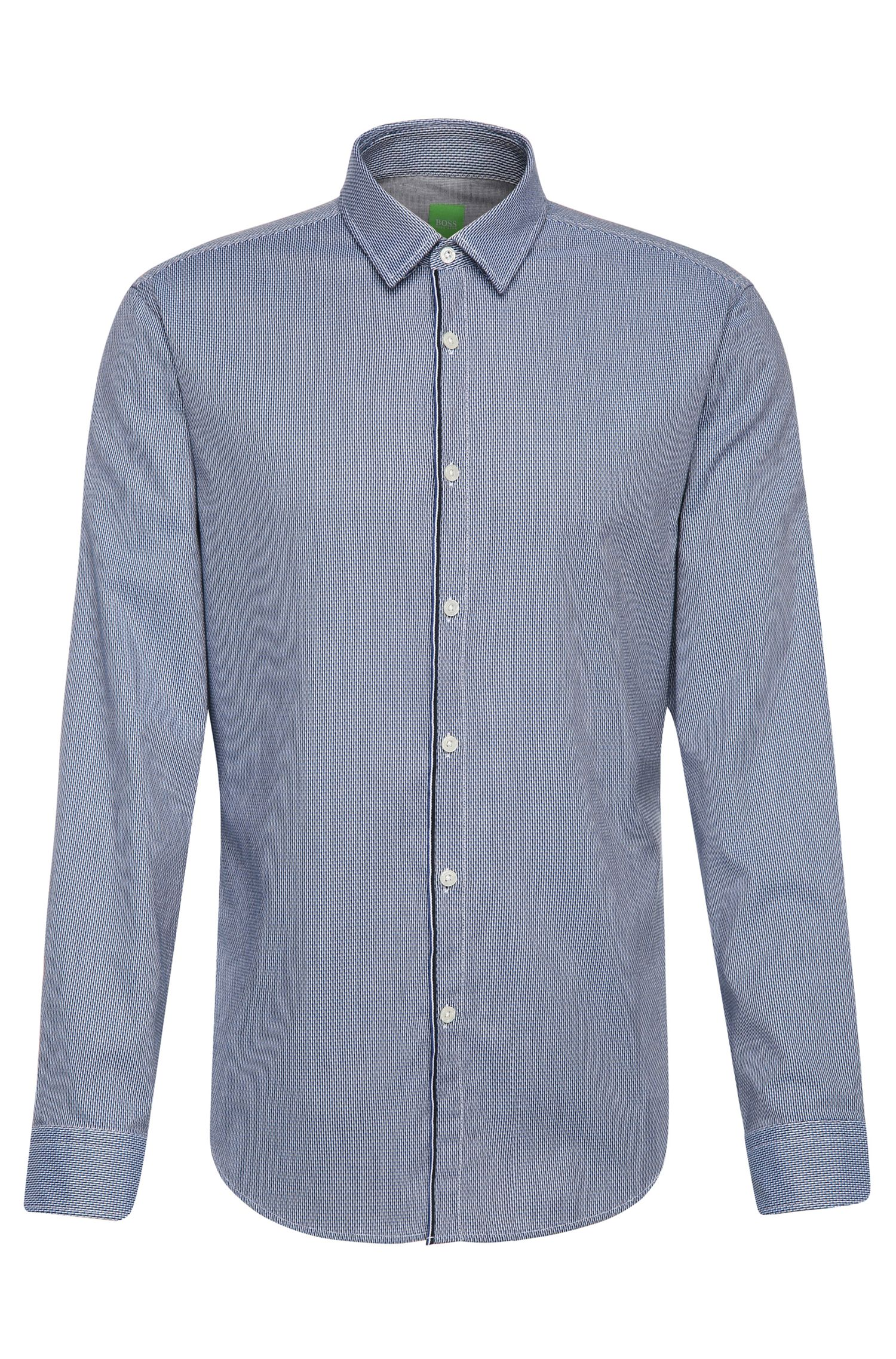 'Brizzi' | Slim Fit, Patterned Cotton Button Down Shirt