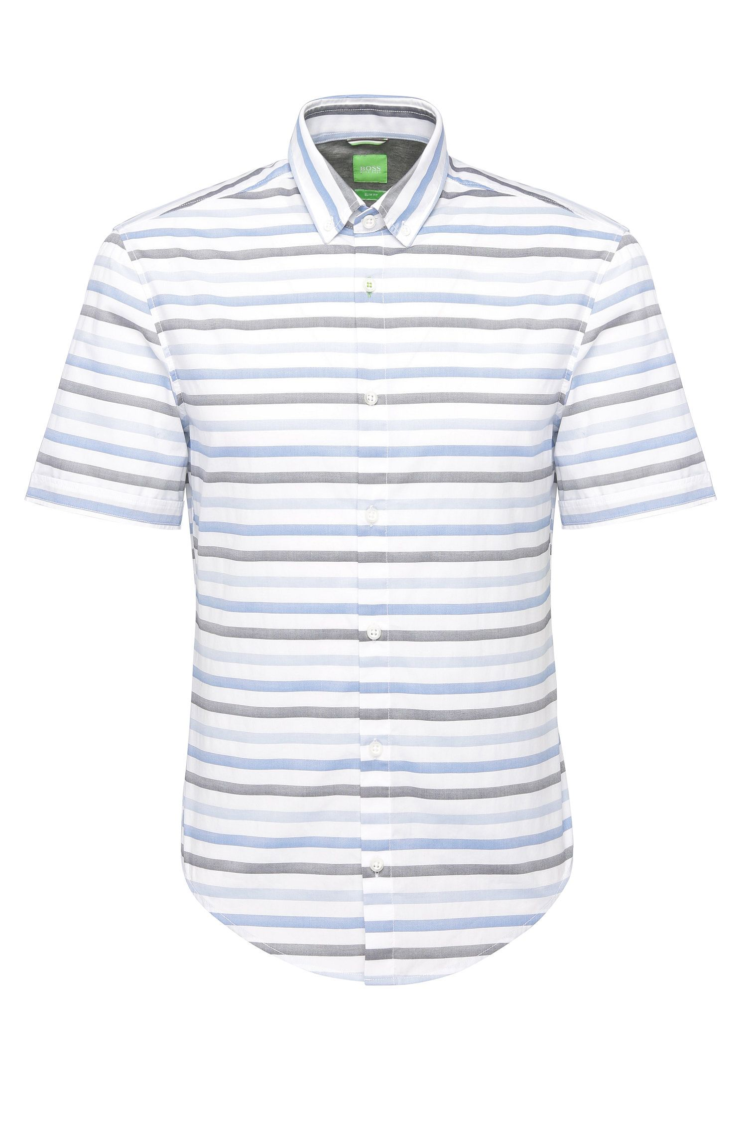 'Beltrame' | Slim Fit, Cotton Button Down Shirt