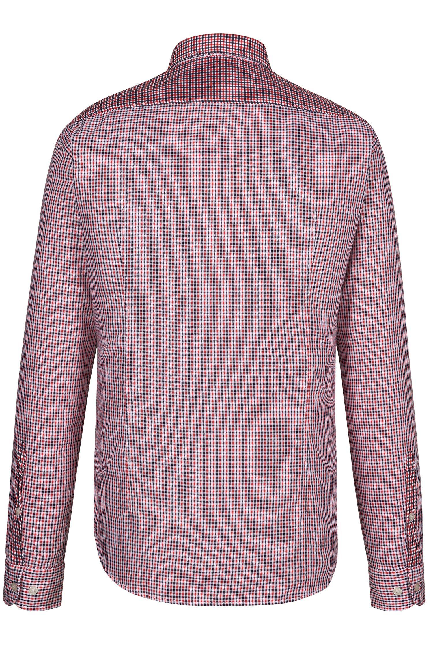 Checked Cotton Button Down Shirt, Regular Fit | C-Briar