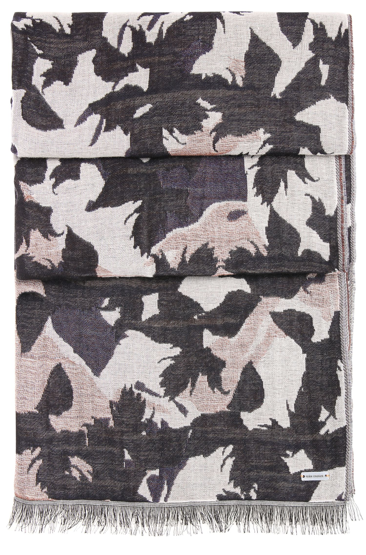 Cotton Botanical Pattern Scarf | Nanuk