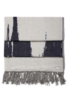 'Nod' | Cotton Wool Patterned Scarf, Patterned