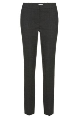 'Tiluna' | Stretch Virgin Wool Dress Pants, Patterned