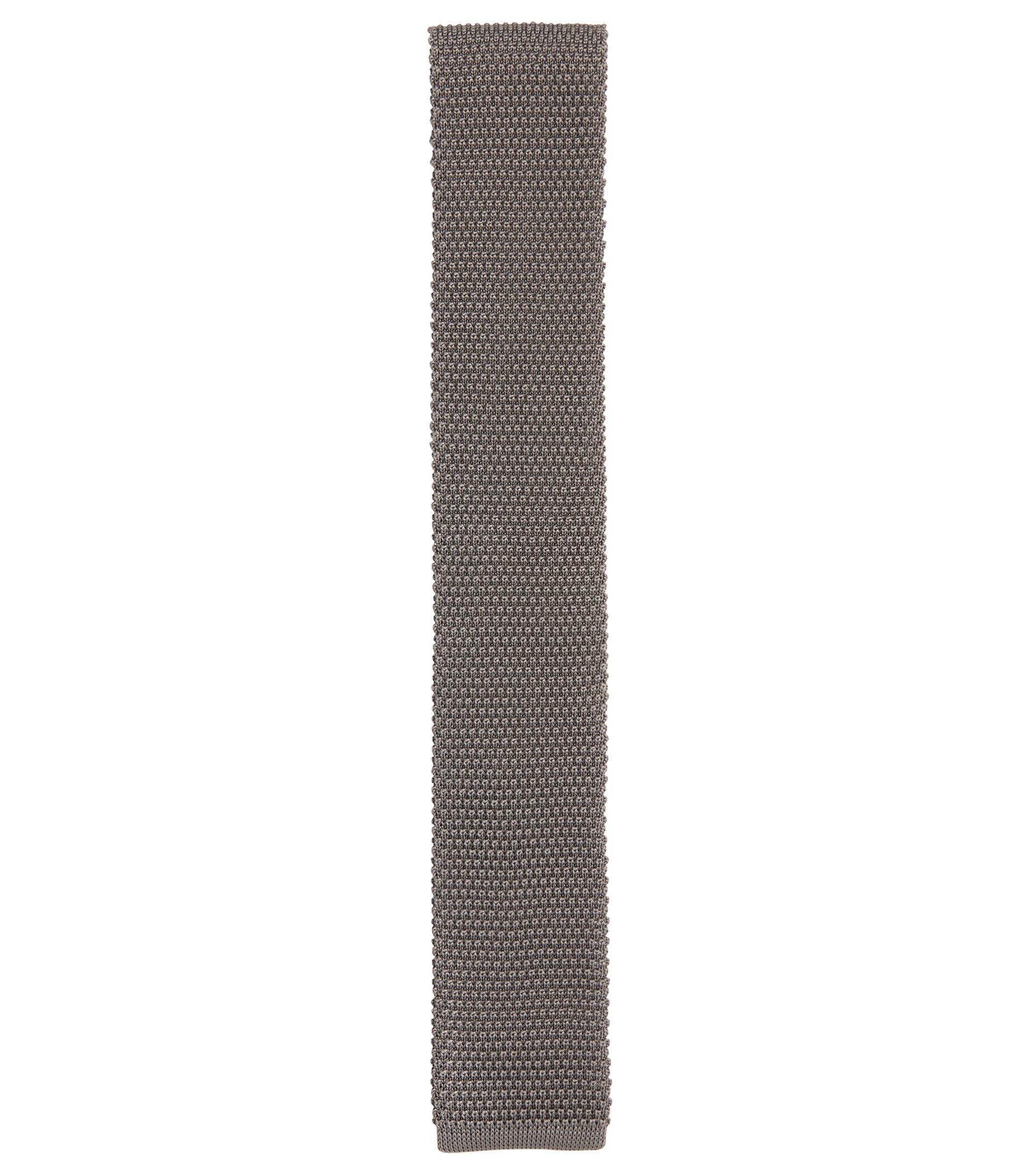 'T-Tie 6 cm' | Slim, Italian Silk Tie, Grey