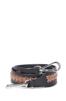 'Braid S Strap' | Calfskin Interchangeable Braided Handbag Strap, Black